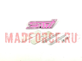 Шильд на бампер с крепежом STi Style