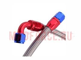 Шланг для подключения масляного радиатора AN10 0гр+90гр 1200мм, фитинги алюминий 1шт