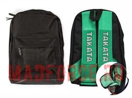 Рюкзак BRIDE черный, ремни TAKATA (зеленые)