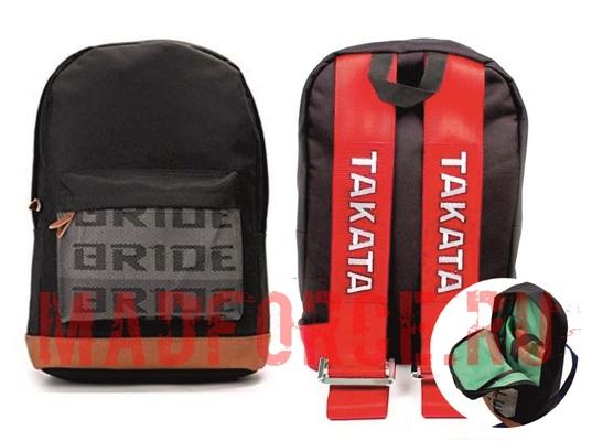 Рюкзак BRIDE ремни TAKATA (красные)