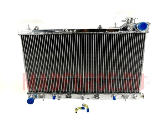 Радиатор алюминиевый Subaru Forester SG5 2004г.AT 40мм (турбо) MF (с горловиной)
