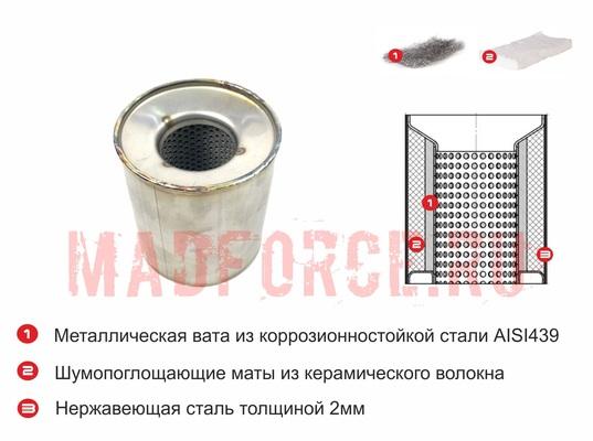 Пламегаситель коллекторный 100x100S