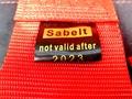 Ремни безопасности SABELT красные  4х точ. быстосъемные