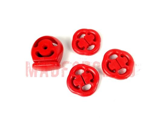 Комплект крепления выхлопной системы CS-20 для а/м ВАЗ 10/11/12 ПУ Drive (красный) (4 шт) 6388