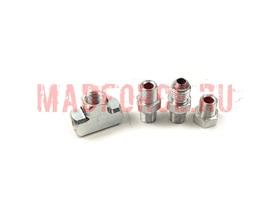 Проставка адаптер-тройник для датчиков в блок (сталь)